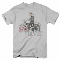 Happy Days t-shirt Sit On It! mens silver