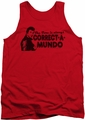 Happy Days tank top Correct A Mundo mens red