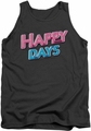 Happy Days tank top Happy Days Logo mens charcoal