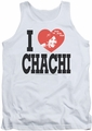 Happy Days tank top I Heart Chachi mens white