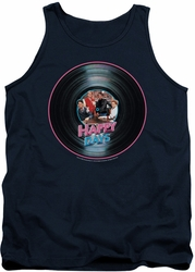 Happy Days tank top On The Record mens navy
