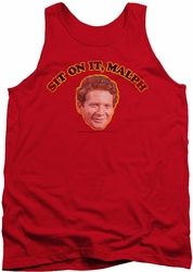 Happy Days tank top Sit On It Malph mens red