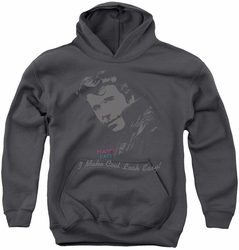 Happy Days youth teen hoodie Cool Fonz charcoal