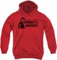 Happy Days youth teen hoodie Correct A Mundo red
