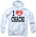 Happy Days youth teen hoodie I Heart Chachi white
