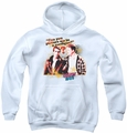 Happy Days youth teen hoodie No Cardigans white