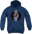 Happy Days youth teen hoodie On The Record navy