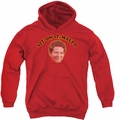 Happy Days youth teen hoodie Sit On It Malph red