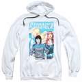 Harbinger pull-over hoodie Gals adult white