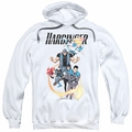 Harbinger pull-over hoodie Vertical Team adult white