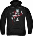 Harley and Joker pull-over hoodie Dark Romance adult black