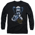 Harley Quinn adult long-sleeved shirt Arkham Asylum black