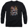 Harley Quinn adult long-sleeved shirt Bad Girls black