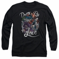 Harley Quinn adult long-sleeved shirt Death By Love black