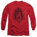 Harley Quinn adult long-sleeved shirt Diamond red