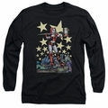 Harley Quinn adult long-sleeved shirt Hammer Time black