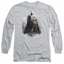 Harley Quinn adult long-sleeved shirt Harley And Bats silver