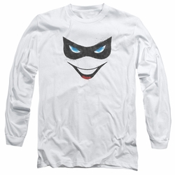 Harley Quinn adult long-sleeved shirt Harley Face white