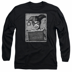 Harley Quinn adult long-sleeved shirt Harley Inmate black