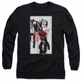 Harley Quinn adult long-sleeved shirt Inked Quinn black