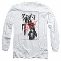 Harley Quinn adult long-sleeved shirt Inked Quinn white