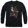 Harley Quinn adult long-sleeved shirt Laugh It Up black