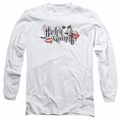 Harley Quinn adult long-sleeved shirt Lips white