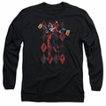 Harley Quinn adult long-sleeved shirt Pow Pow black