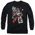 Harley Quinn adult long-sleeved shirt Smoking Gun black
