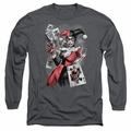 Harley Quinn adult long-sleeved shirt Smoking Gun charcoal