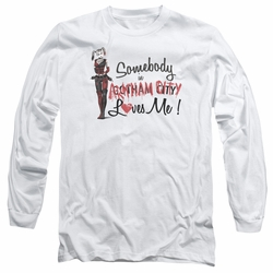 Harley Quinn adult long-sleeved shirt Somebody Loves Me white