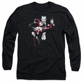 Harley Quinn adult long-sleeved shirt with Joker black