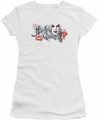 Harley Quinn juniors t-shirt Lips white