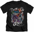 Harley Quinn kids t-shirt Death By Love black
