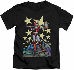 Harley Quinn kids t-shirt Hammer Time black