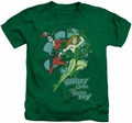 Harley Quinn kids t-shirt Harley And Ivy kelly green