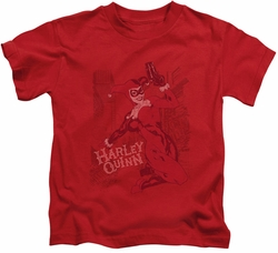Harley Quinn kids t-shirt Harley's Packing red