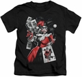 Harley Quinn kids t-shirt Smoking Gun black
