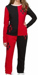 Harley Quinn pajama set with Cuffed Bottoms juniors black pre-order