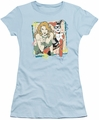 Harley Quinn Poison Ivy juniors t-shirt Totally light blue