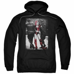 Harley Quinn pull-over hoodie Arrest adult black