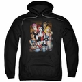 Harley Quinn pull-over hoodie Bad Girls adult black