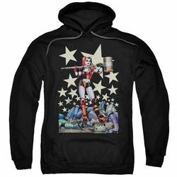 Harley Quinn pull-over hoodie Hammer Time adult black