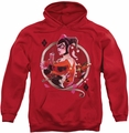 Harley Quinn pull-over hoodie Harley Q adult red