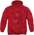 Harley Quinn pull-over hoodie Harley's Packing adult red