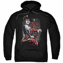 Harley Quinn pull-over hoodie Laugh It Up adult black