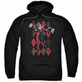 Harley Quinn pull-over hoodie Pow Pow adult black