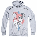 Harley Quinn pull-over hoodie Profiling adult athletic heather