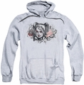 Harley Quinn pull-over hoodie Sketch adult athletic heather
