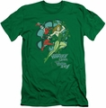 Harley Quinn slim-fit t-shirt Harley And Ivy mens kelly green